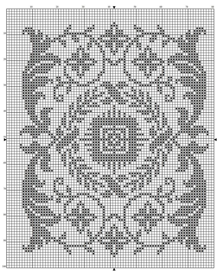 Rectangle 02 | Free chart for cross-stitch, filet crochet | Chart for pattern - Gráfico