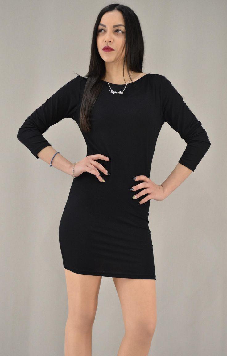 Γυναικείο φόρεμα εξώπλατο   Φορέματα - Φορέματα - Γυναίκα   Metal Μαύρο