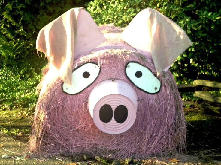 Pink (haystack) Piggy at Spooner Farms.