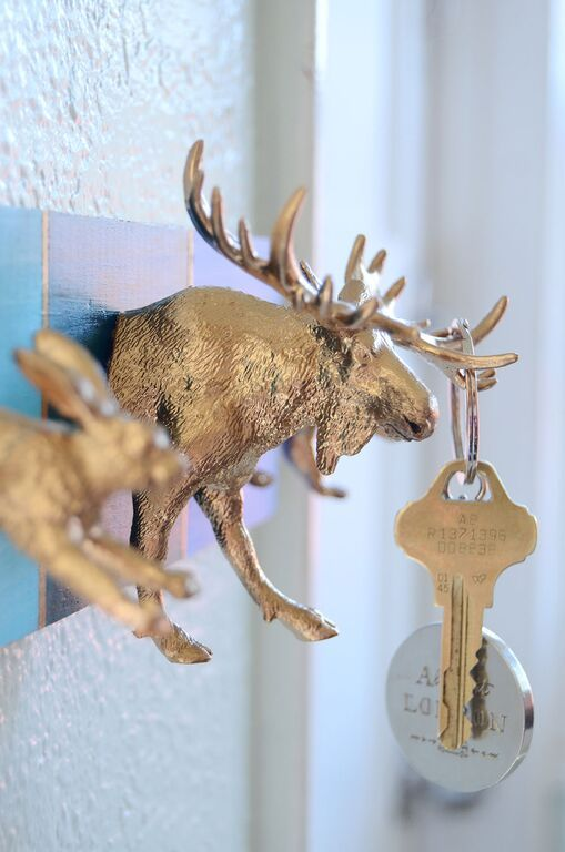 DIY Woodland Animal Key Rack Tutorial
