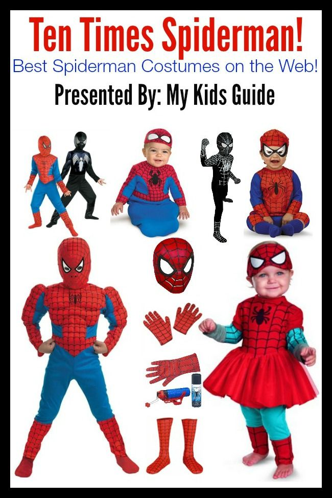 Hosting a Spiderman themed partyY? How about playing dress up with these Spiderman Costumes for Kids
