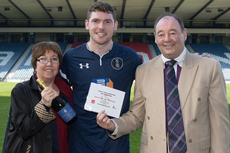 Queen's Park's Ryan McGeever Man of the Match after the Ladbrokes League One game between Queen's Park and Peterhead.