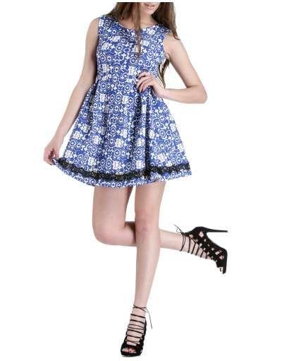 ΝΕΕΣ ΑΦΙΞΕΙΣ :: Αμάνικο Φόρεμα Pixels and Dust Blue - OEM