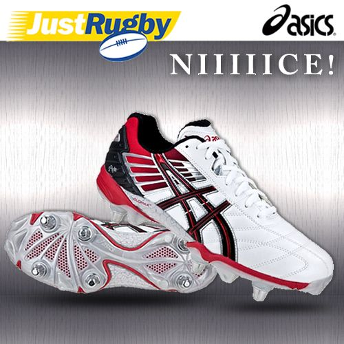 Limit Offer Cheap Men Asics Lethal Scrum Rugby Boots AW15 White - C7D0757640