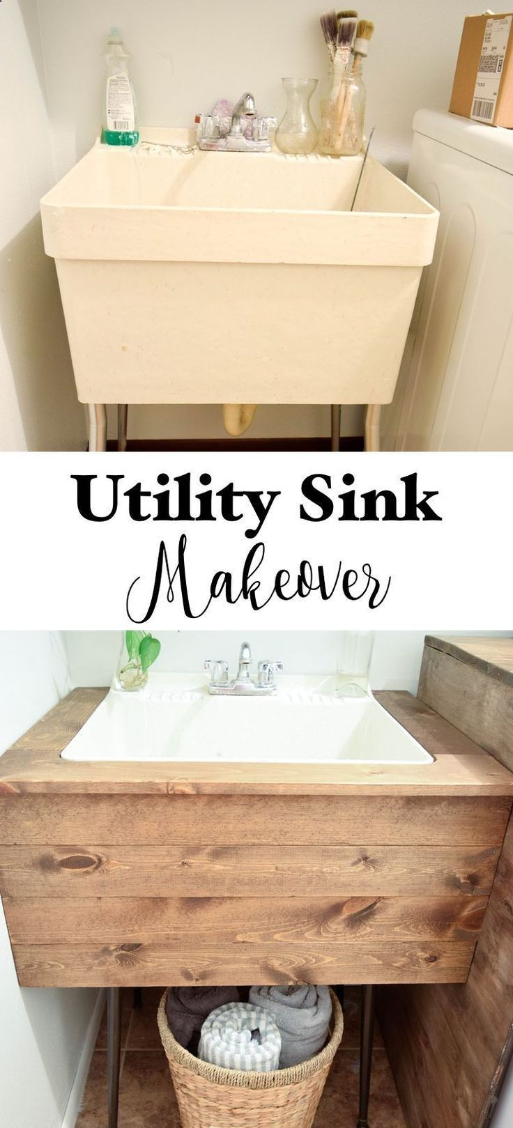 Shed DIY – Bathroom Furniture : DIY Utility Sink Makeover – Timeless Creations, LLC -Read More – Now You Can Build ANY Shed In A Weekend Even If Y…