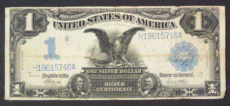 u.s. one dollar bill | 16 - 1899 A $1 ONE DOLLAR SILVER CERTIFICATE BILL U.S.