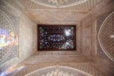 Restauración del techo del mirador de Lindaraja