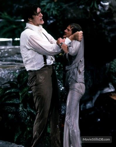 Moonraker - Publicity still of Roger Moore & Richard Kiel