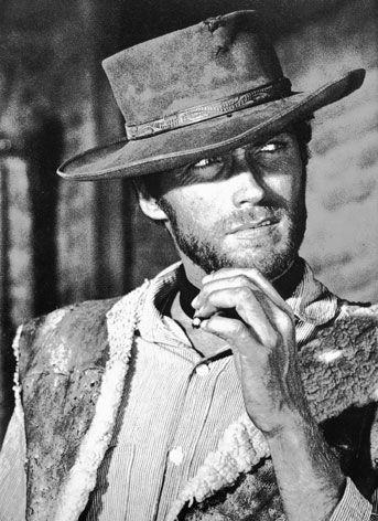 """Clint Eastwood in """"Per un pugno di dollari"""" (1954) by Sergio Leone."""