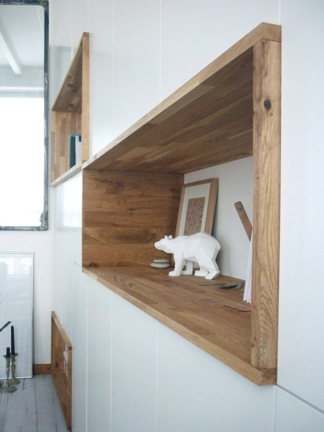 mur rangements blanc bois scandinave - Bois Decoratif Pour Mur
