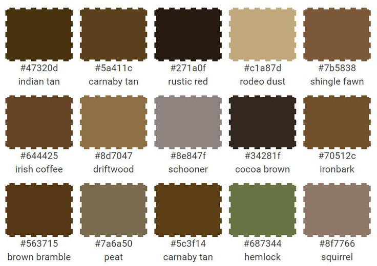 Image Result For Color Names Brown
