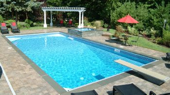Rectangular inground pool images google search patio for Cheap rectangle pools