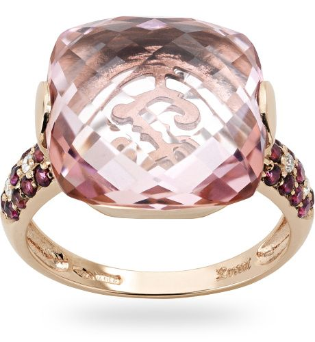 #Anello in oro rose 18 kt. con 0.04 ct. di diamante - #Zoccai #gold #ring with #diamond
