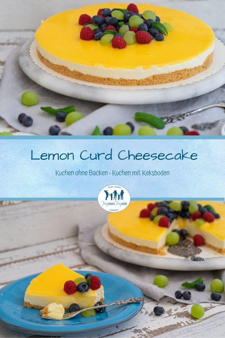 Zitronen-Käsekuchen-Rezept – Zitronen-Kuchen – Kuchen ohne Backen – Zitronenquark …
