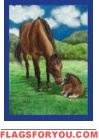 Horses / Field Garden Flag