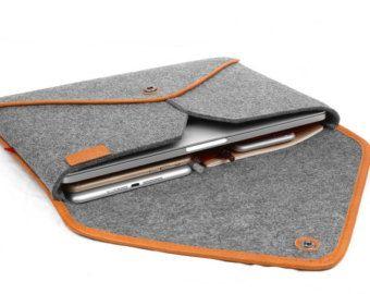 15''Macbook Case Tablet Sleeve Wool Felt Laptop Case by TopHome