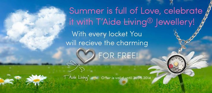 Its time to celebrate the summer and love!  What a perfect moment to buy a T'Aide Living Locket for your loved one ( I guess you start from yourself:-)!