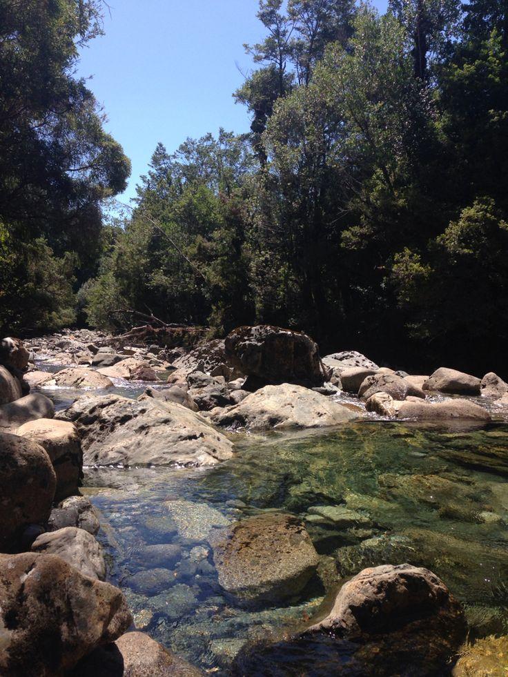 Parque Pumalin Sendero Cascada Cruce del río