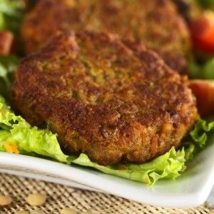 lentil-burger ~ I increased this recipe x6 so I could freeze extras.  Don't use a blender in lieu of a food processor (it takes far too long).