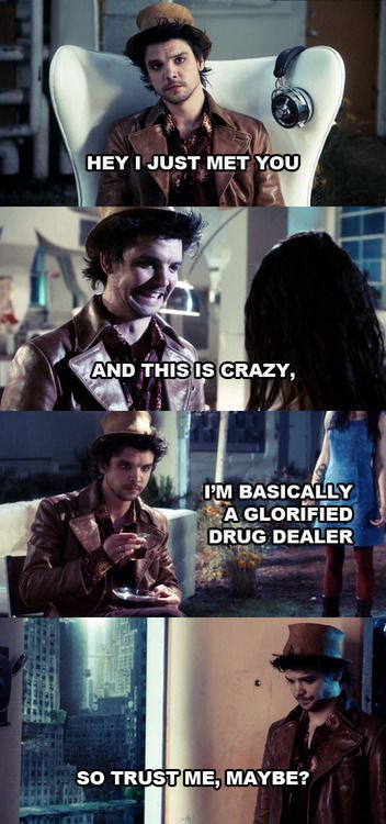 syfy alice.......yeah i would trust him and that cockeyed smile:)