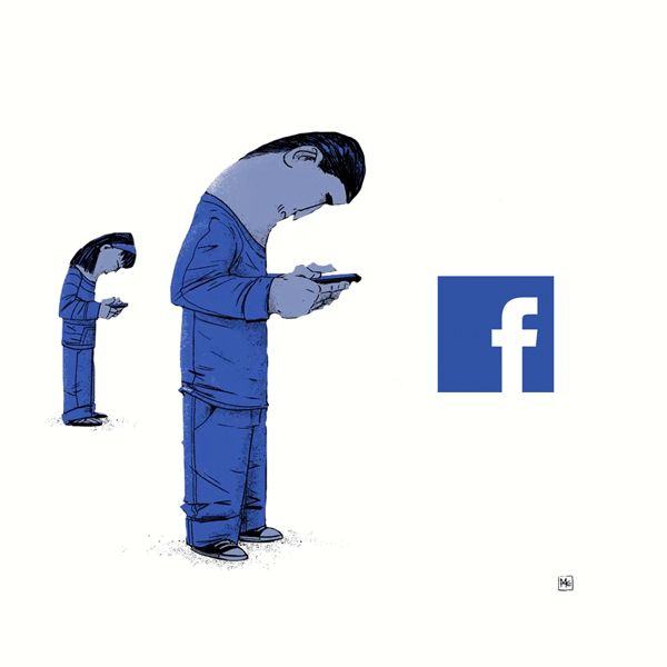 (Unknown artist)What is the real meaning of Facebook logo? :)
