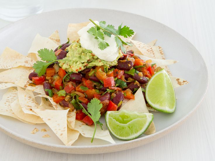 Free Recipe: Not So Naughty Nachos (and a veggie version, too!)