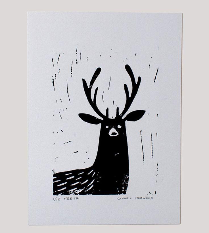Stag Art Print by samuelhorwooddesign on Etsy