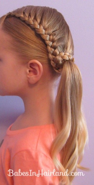 Lauren Conrad Inspired -  Half French Braid Wrapped Ponytail