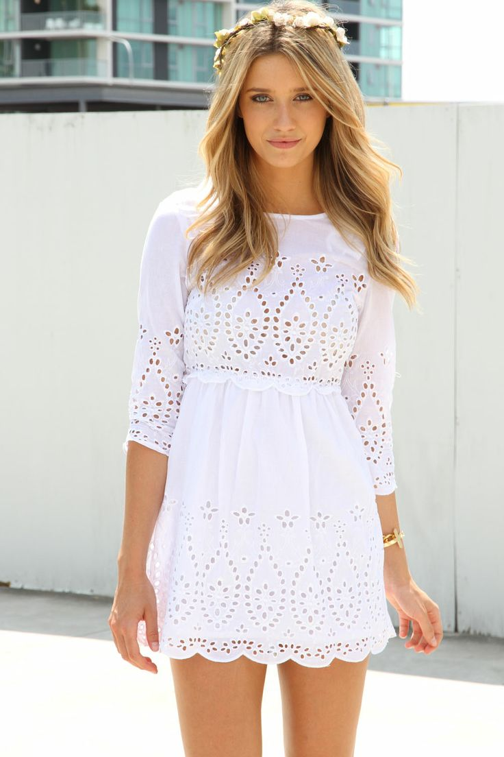 Sweet white eyelet dress