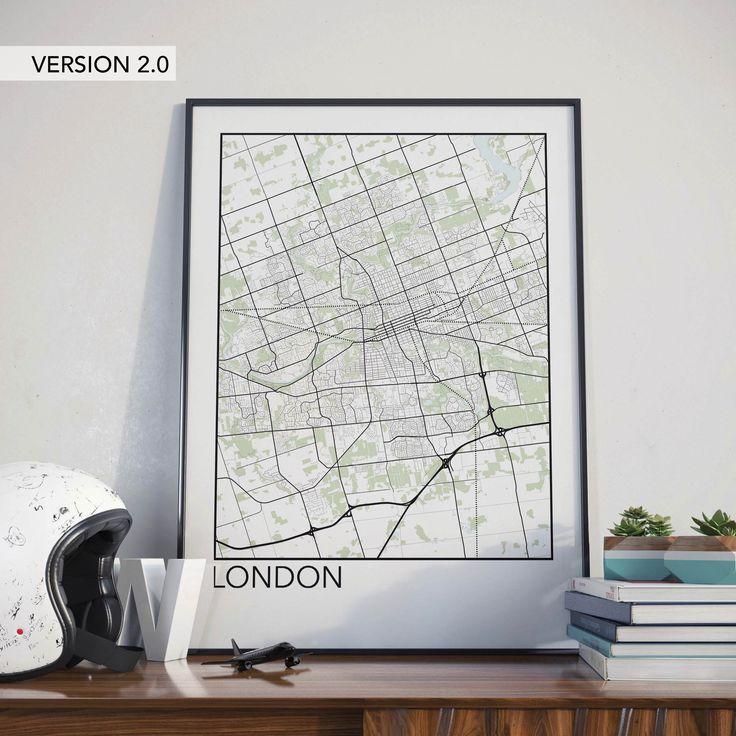 London Ontario Minimalist City Map Print