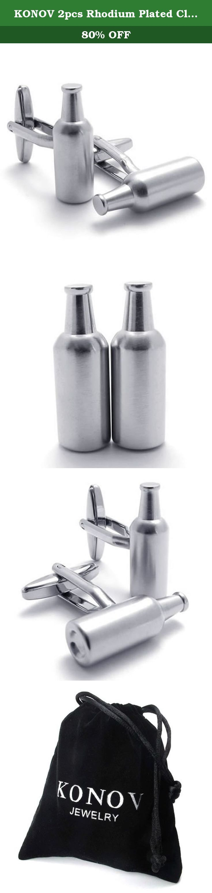 KONOV 2pcs Rhodium Plated Classic Personalized Beer Bottle Shirts Men's Cufflinks, Silver, 1 Pair. Why choose Stainless Steel Jewelry? Stainless Steel jewelry does not tarnish and oxidize, which can last longer than other jewelries. It is able to endure a lot of wear and tear. And it is amazingly hypoallergenic. Such advantages make it a more popular accessory. Why need Stainless Steel Jewelry? High quality stainless steel has high resistance to rust, corrosion and tarnishing, which…