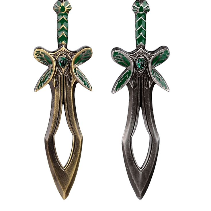 Defense of the Ancients DOTA 2 The Butterfly Sword Weapon Key Chains Alloy Antique Silver Color Keychain key rings for men