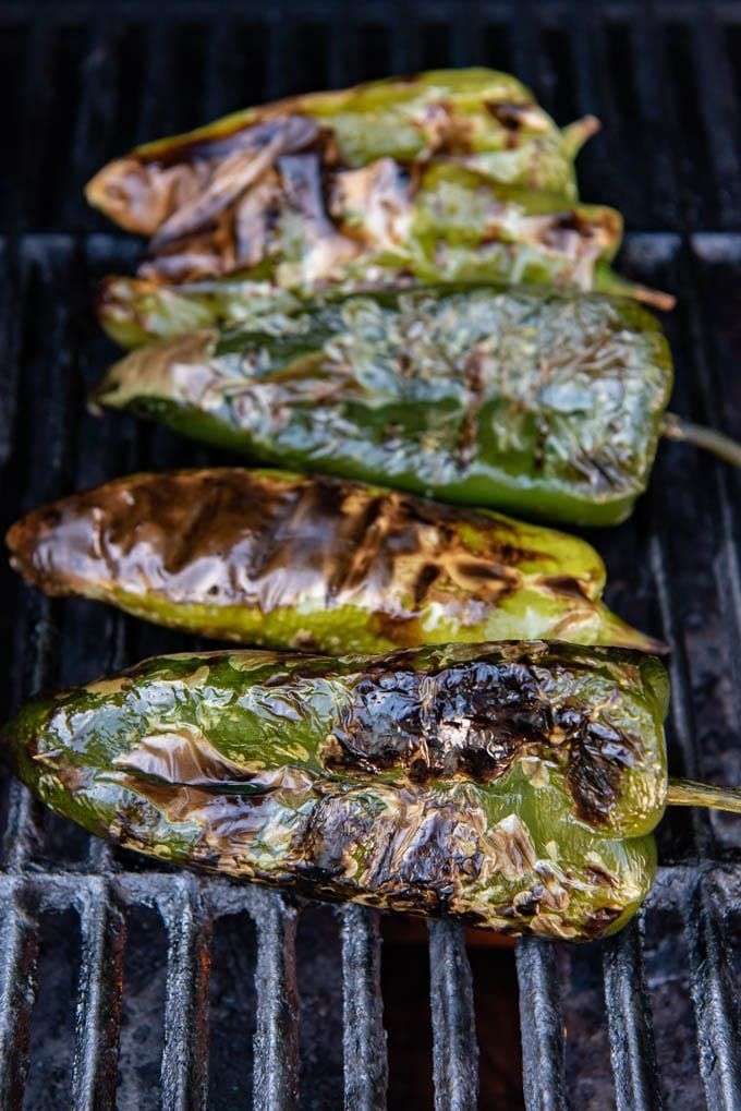 Grilled Poblano Peppers That Have Been Roasted On A Grill Over A Flame Until The Skins Are Charred Stuffed Poblano Peppers Stuffed Peppers Grilled Roast