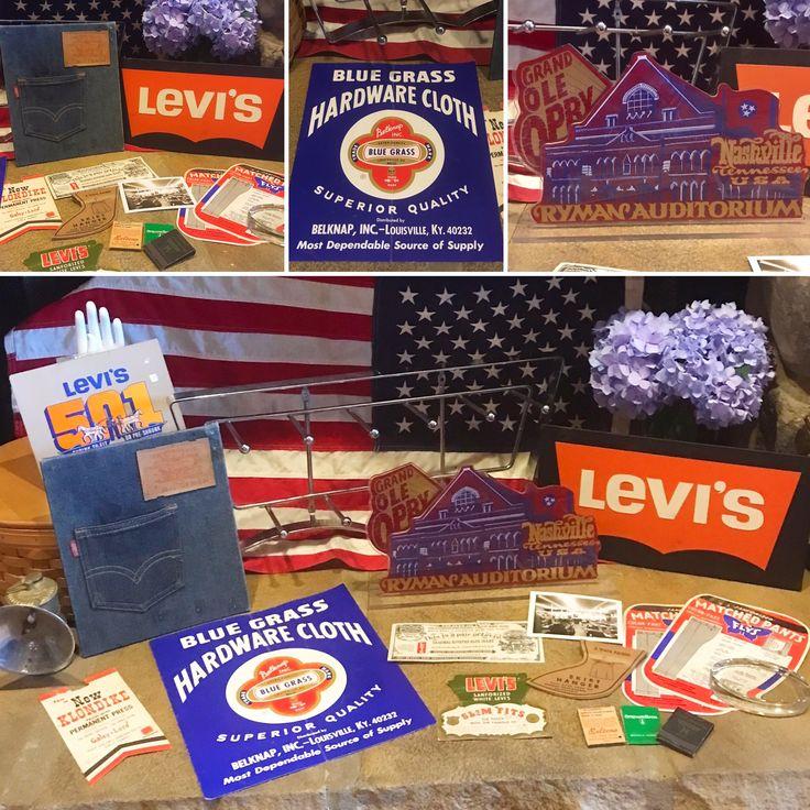 Vintage Levi's Store Advertising displays