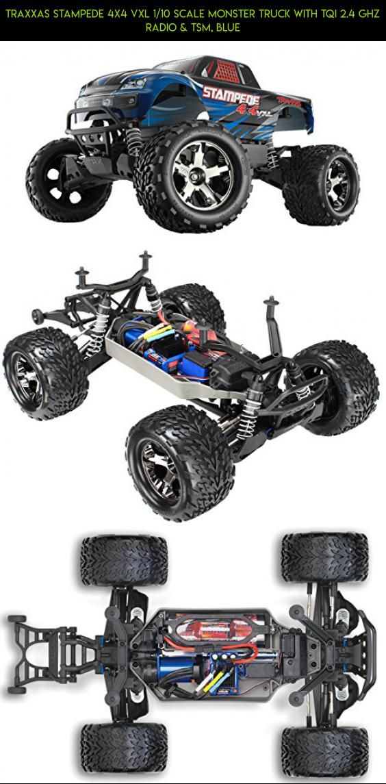 Traxxas Stampede 4X4 VXL 1/10 Scale Monster Truck with TQi 2.4 GHz Radio & TSM, Blue #traxxas #racing #products #plans #parts #gadgets #4x4 #fpv #kit #camera #tech #shopping #drone #technology