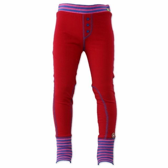 "Vrolijke rode legging ""Red Up"" #KikiBo #4FF #4funkyflavours www.kikibo.nl"