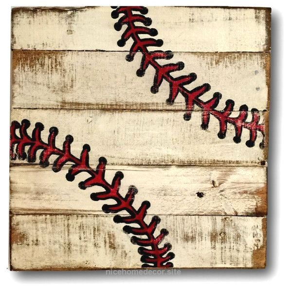 Baseball Wall Art Sports Decor Rustic Vintage Baseball Sign  http://www.nicehomedecor.site/2017/07/22/baseball-wall-art-sports-decor-rustic-vintage-baseball-sign/