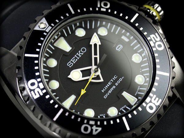 SEIKO Diver Kinetic SKA427P2 Orologio Subacqueo 200m Scuba Watch PVD