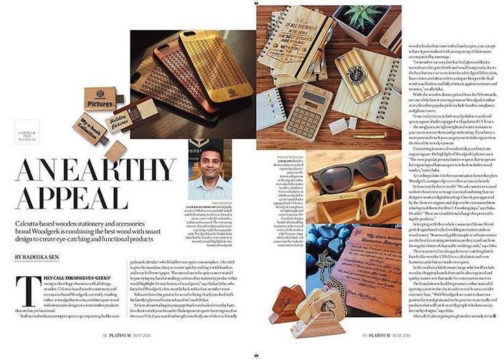 Woodgeek in the news! We've been featured in the May edition of The Telegraph Platinum magazine. Its always exciting when the press talks about out our work!