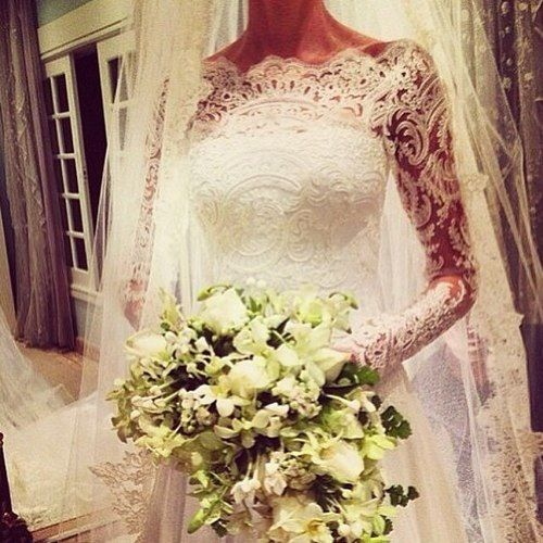 I love long sleeve lace wedding dresses... This is perfection. -JKJ