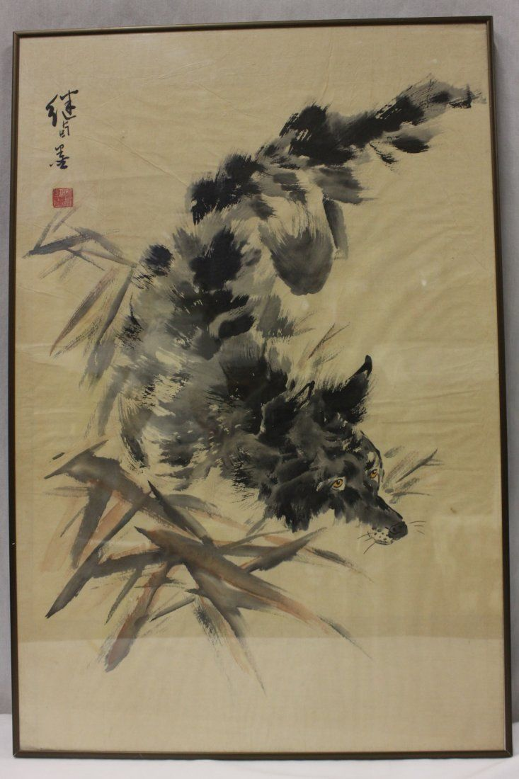 Chinese Watercolor Of Wolf On Someday Tattoos Wolf
