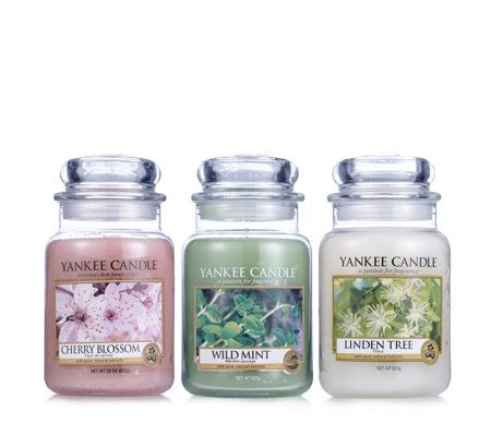 Yankee Candle Set of 3 Pure Essence Large Jars with Illuma Lid