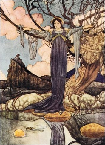The Big Book of Fairy Tales 1911. The Frog Prince. Charles Robinson was born in 1870.