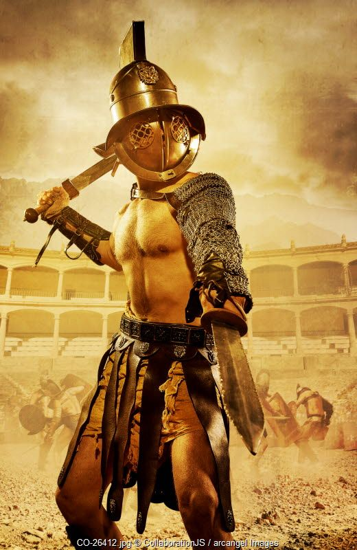 A roman gladiator  © CollaborationJS / Arcangel Images