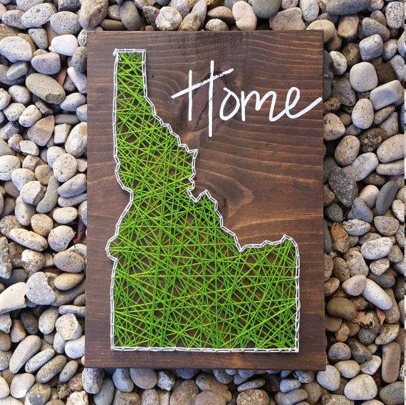 Idaho string art home state sign by HeartStringsbyMeg on Etsy
