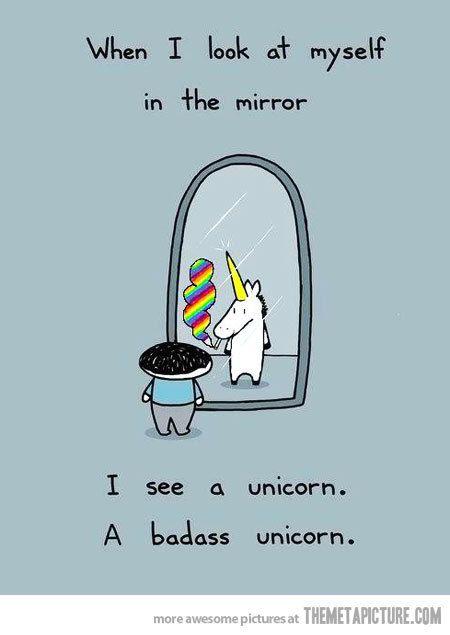 funny unicorns pictures | funny-kid-mirror-unicorn