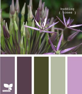 color palette - mmm more greens and purples