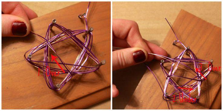 Estrella de decoración de navidad realizada con alambre. Fuente: Alyssandcarla