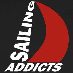track jacket white logo Sailing Addicts TM