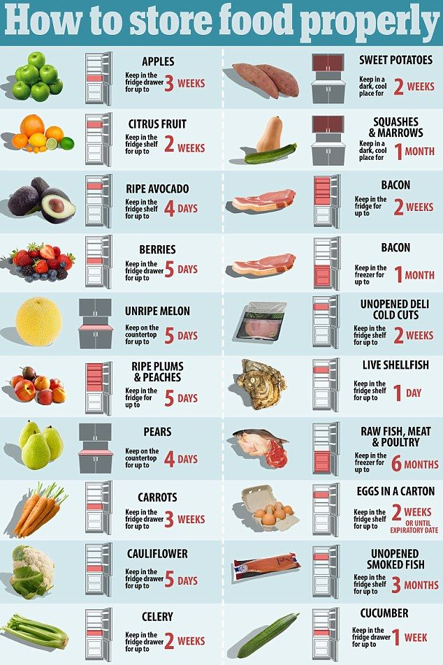 How to store food properly so it doesn't go off | Daily Mail Online